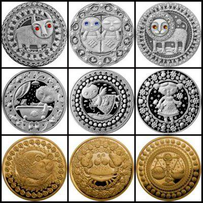 монеты со знаком с